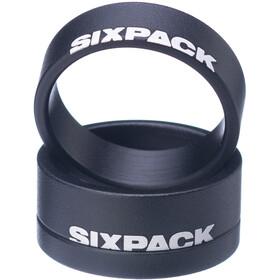 """Sixpack Menace Distanziatore 1 1/8"""", nero"""